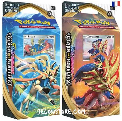 decks à theme pokemon epee et bouclier clash des rebelles