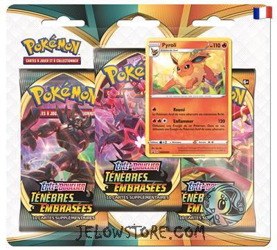 tripack pokemon ténèbres embrasées pyroli