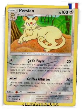 Carte Pokémon SL9 Duo de Choc Persian Reverse FR 126/181