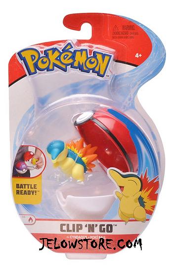 figurine pokemon pokeball clip n go hericendre