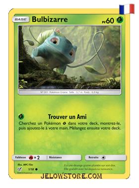 Carte Bulbizarre Holo Détective Pikachu FR 1/18
