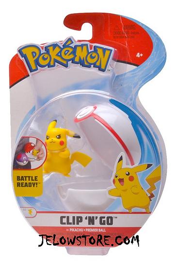 figurine pokemon pokeball clip n go pikachu