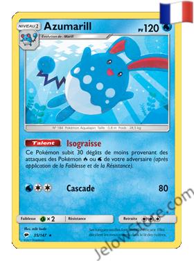 Carte Pokémon SL3 Ombres Ardentes Azumarill FR 35/147