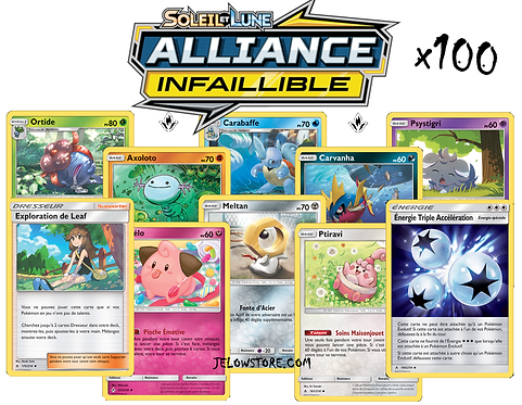 lot de cartes pokémon x100 alliance infaillible