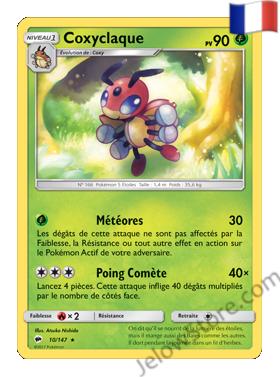 Carte Pokémon SL3 Ombres Ardentes Coxyclaque Fr 10/147
