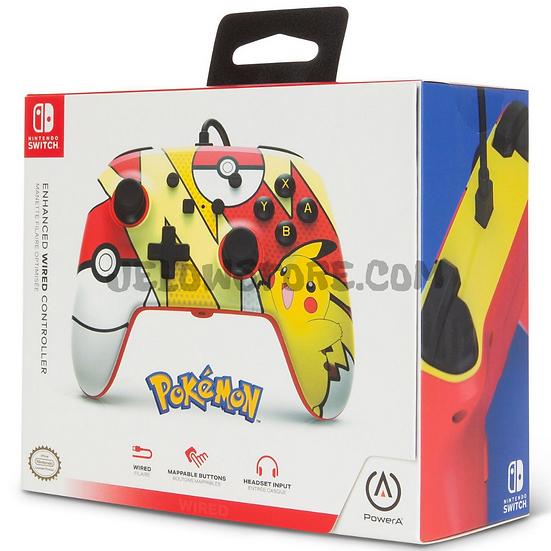 Manette Nintendo Switch: POWER A - WIRED ENHANCED CONTROLLER PIKACHU POP ART