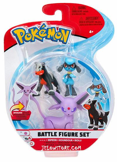 Pokémon [Battle Figure Set]: Mentali + Riolu + Malosse