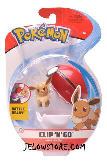 figurine pokemon clip n go evoli et poké ball