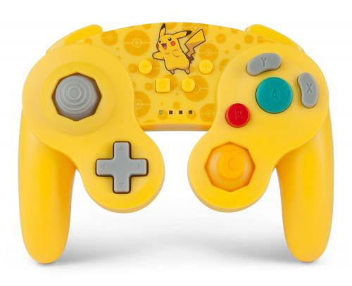 Manette Nintendo Switch: POWER A - WIRELESS CONTROLLER GAMECUBE PIKACHU