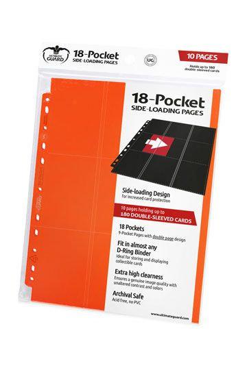 18-Pocket Side-Loading Pages (x10) - Orange [Ultimate Guard]