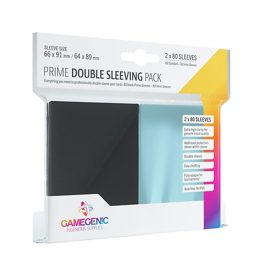 Protège-cartes GM: PRIME DOUBLE SLEEVING PACK - BLACK