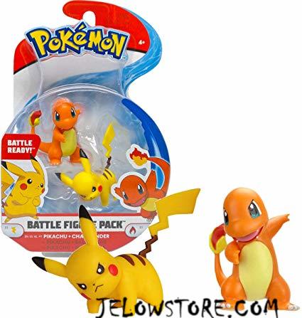 pokemon battle figure salameche + pikachu