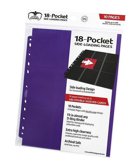 18-Pocket Side-Loading Pages (x10) - Violet [Ultimate Guard]