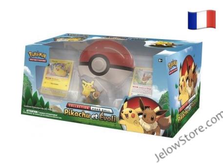 Coffret Collection Pokéball Pikachu et Evoli FR