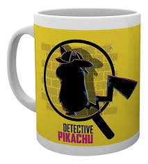 mug detective pikachu magnified
