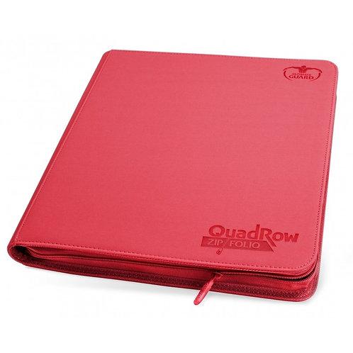 Portfolio 12-Pocket QuadRow ZipFolio XenoSkin [Ultimate Guard] - Rouge