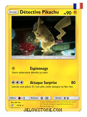 Détective Pikachu holo fr 10/18