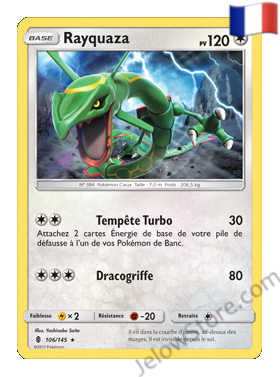 Carte Pokémon SL2 Gardiens Ascendants Rayquaza FR 106/145