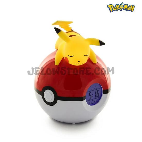 Teknofun - Pikachu Pokeball - Réveil avec lampe LED
