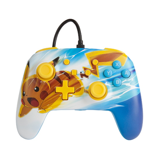 Manette Nintendo Switch: POWER A - WIRED ENHANCED CONTROLLER PIKACHU CHARGE