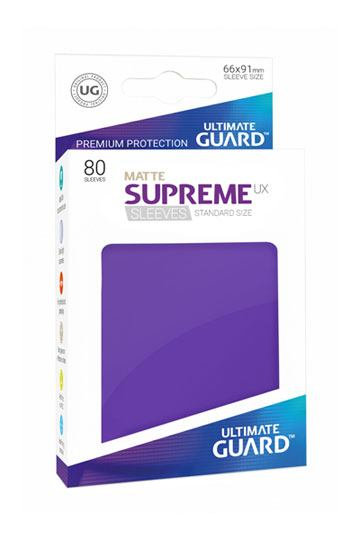 Ultimate Guard 80x pochettes Supreme UX Sleeves Taille Standard - Violet Mat - deck protector sleeves