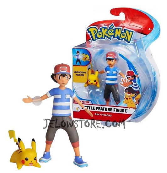Pokémon [Battle Feature Figure]: Sacha et Pikachu