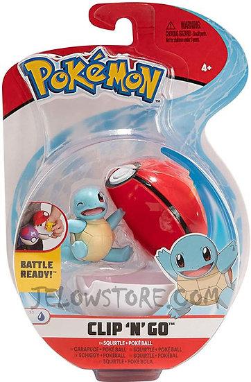 Pokémon [Pokéball Clip 'N' Go]: Carapuce + Poké Ball