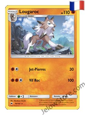Carte Pokémon SL3 Ombres Ardentes Lougaroc FR 76/147