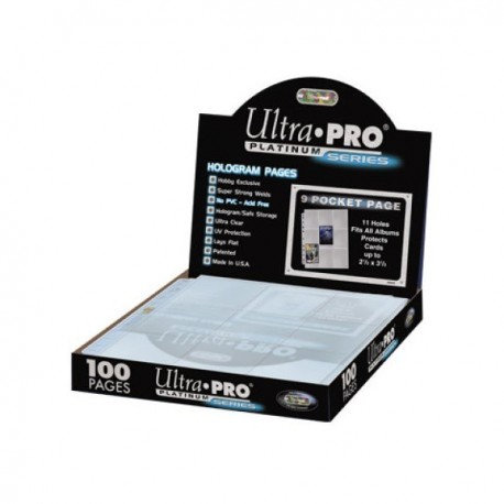 Ultra Pro Platinum Series feuilles de rangement x100