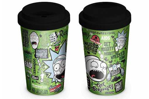 mug de voyage ceramique rick and morty quotes
