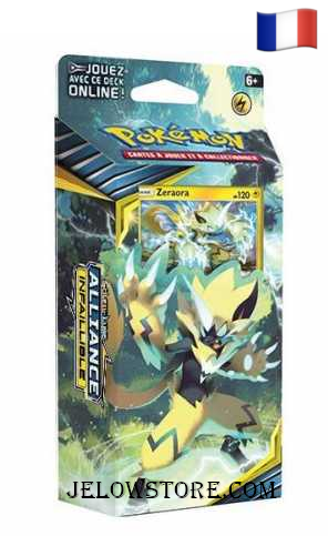 Acheter Deck à thème Pokémon SL10 Soleil et Lune Alliance Infaillible FR Zeraora Ellipse électrique