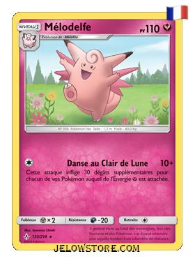 Carte Pokémon SL10 Mélodelfe 133/214