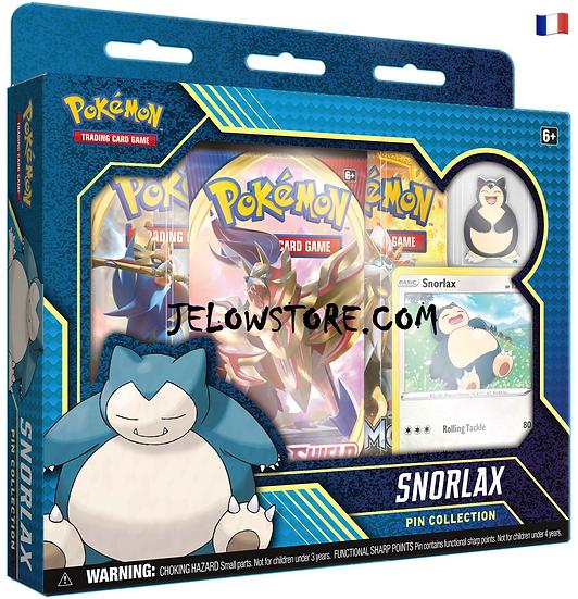 coffret pokemon collection avec pin's ronflex