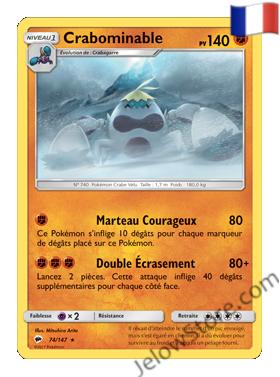 Carte Pokémon SL3 Ombres Ardentes Crabominable Fr 74/147
