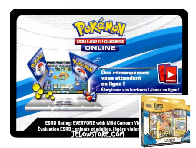 Code Online Pokémon - 1x Coffret Collection avec Pin's Latios [SL7.5]