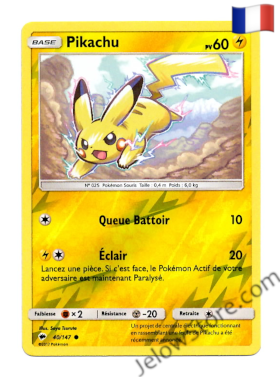 PIKACHU REVERSE 40/147 FR [SL3 OMBRES ARDENTES]