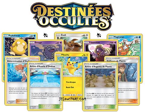 lot de cartes pokémon destinées occultes