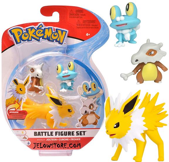 pokemon battle figure set jolteon cubone froakie