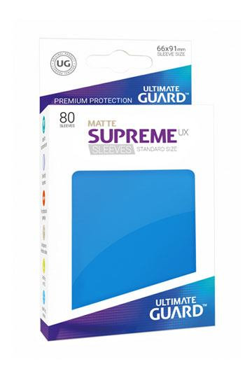Ultimate Guard 80x pochettes Supreme UX Sleeves Taille Standard - Bleu Roi - deck protector sleeves