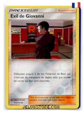 EXIL DE GIOVANNI REVERSE 174/214 FR SL10 ALLIANCE INFAILLIBLE