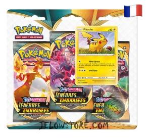Tripack: EB03 Ténèbres Embrasées - Pikachu [FR]