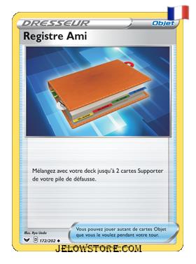 REGISTRE AMI 172/202 FR [EPEE ET BOUCLIER]