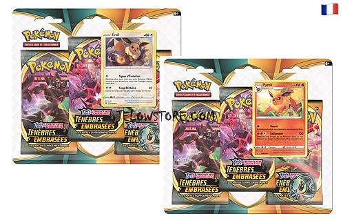 pokemon pack 3 boosters ténèbres embrasées
