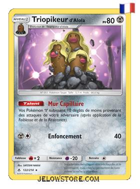 Carte Pokémon SL10 Triopikeur d'Alola 122/214