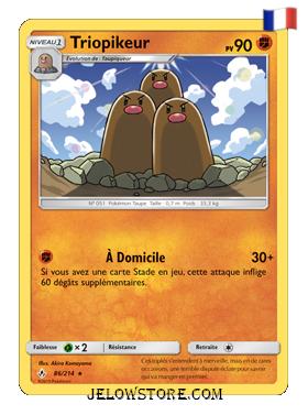 Carte Pokémon SL10 Triopikeur 86/214