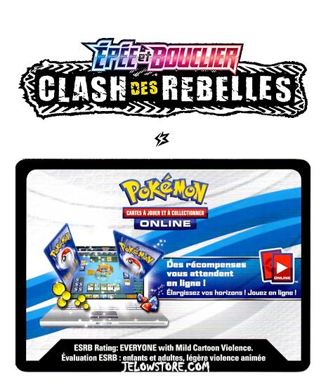 Code Online Pokémon - 1x booster [EB02 CLASH DES REBELLES]
