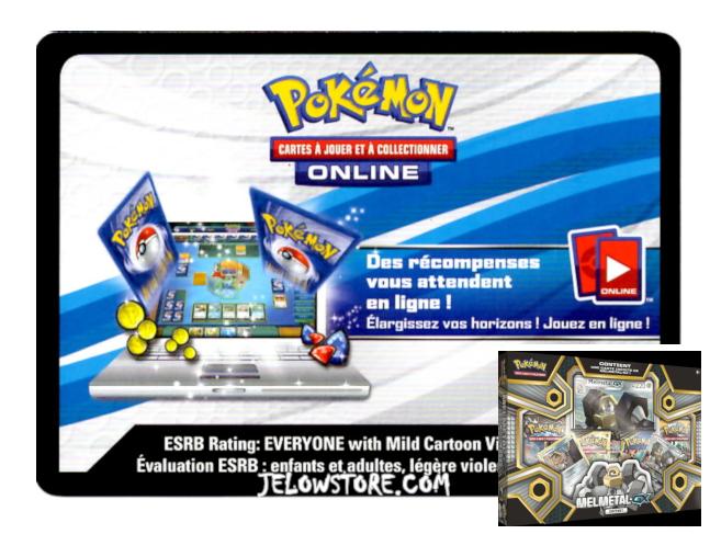 Code Online Pokémon - 1x Coffret Melmetal-GX