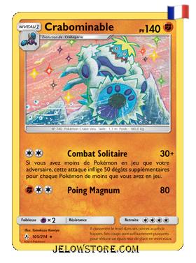Carte Pokémon SL10 Crabominable 105/214