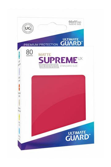 Ultimate Guard 80x pochettes Supreme UX Sleeves Taille Standard - Rouge Mat