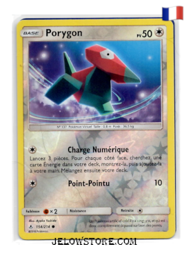 Carte Pokémon Porygon reverse 154/214 SL10 Alliance Infaillible